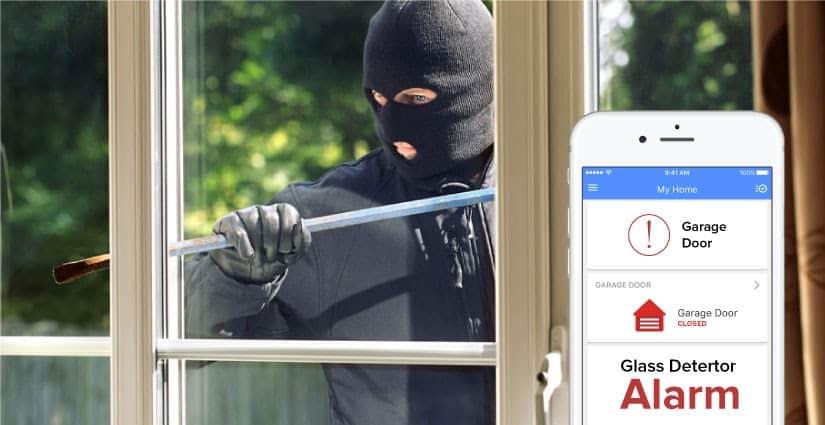 powerG wireless glass break detector from dsc cornerstone protection