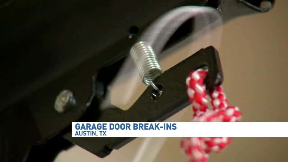 prevent crooks from breaking into your garage