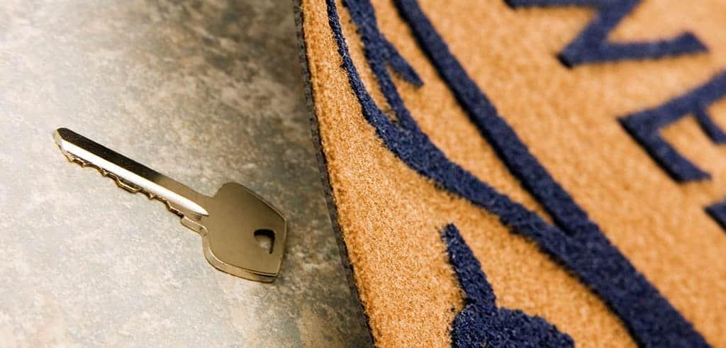 Hidden key. Home security measures