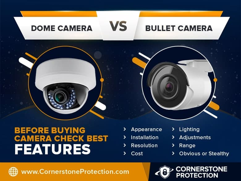 Bullet VS Dome Camera | 7 Simple Guidance For Your Small Business