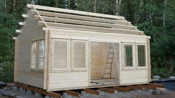 Allwood Claudia Cabin build in progress