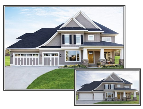 Add style to your home with a custom garage door