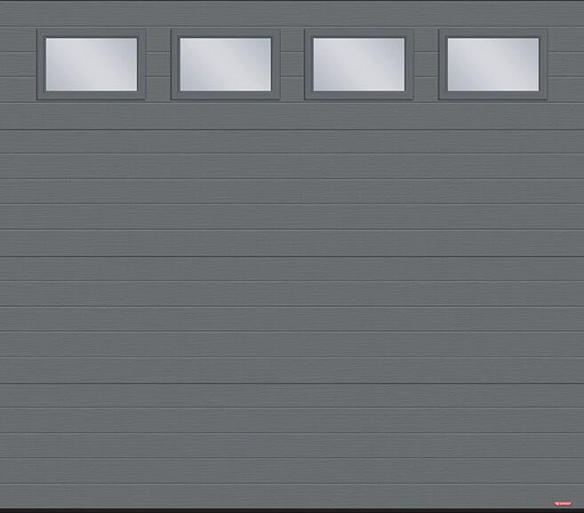 Standard+ Moderno Multi, 8' x 7', Charcoal, Clear windows