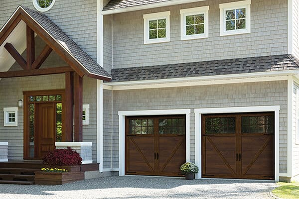 Princeton P-23, 9' x 7', Chocolate Walnut doors and overlays, 8 lite Panoramic windows