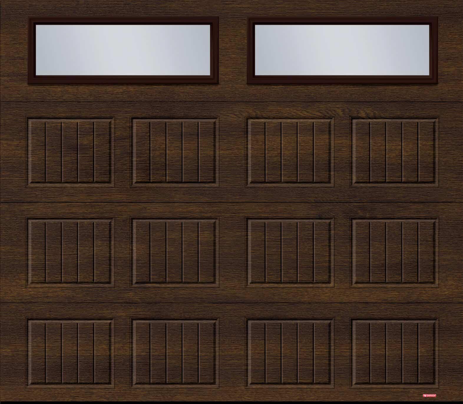 Standard+ North Hatley SP, 8' x 7', Chocolate Walnut, Clear windows