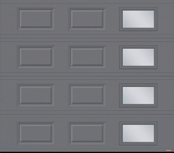 Standard+ Classique CC, 8' x 7', Charcoal, window layout: Right-side Harmony