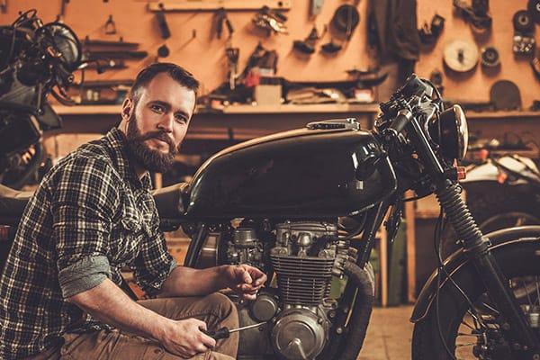 garage motorcycle storage