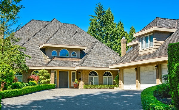 matching detached garage and house