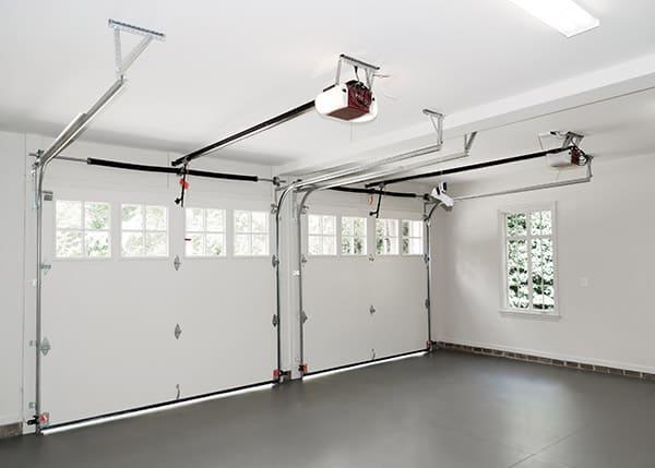 clean and organized garage floor