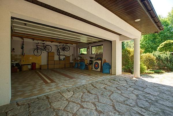 open garage door to cool off your garage