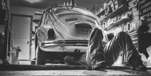 Man reparing a car