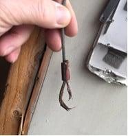 Broken lift cable