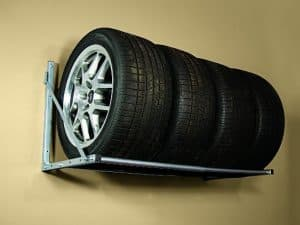 Store tires on a rack