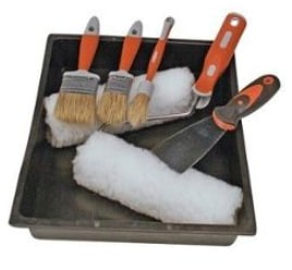Tools you'll need: paint brushes and pan