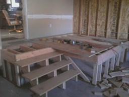 installing a false floor