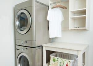 washing machine, dryer and storage cabinets