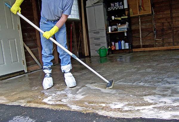 garage floor drain system