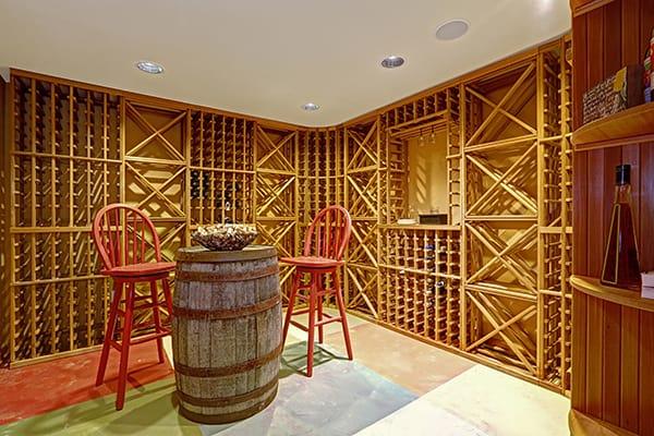 garage wine storage