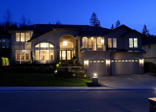lights on a garage
