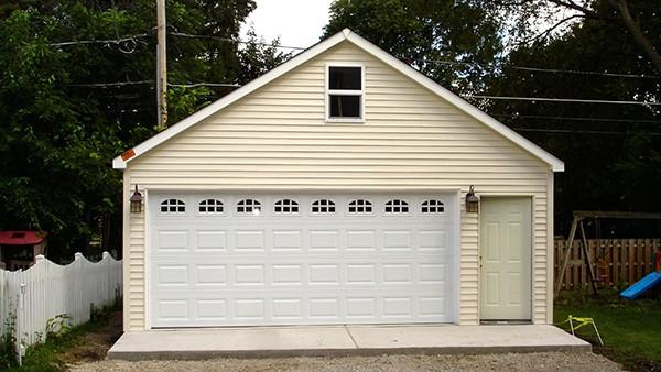 fix dented garage door