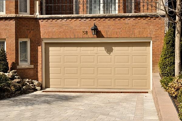 garage door opener installed on a garage