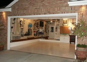 Interior view of a garage