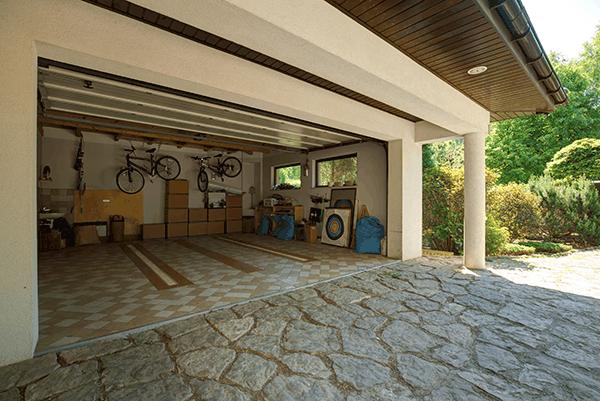 empty detached garage