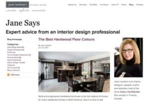 Jane Lockhart Interior Design Website