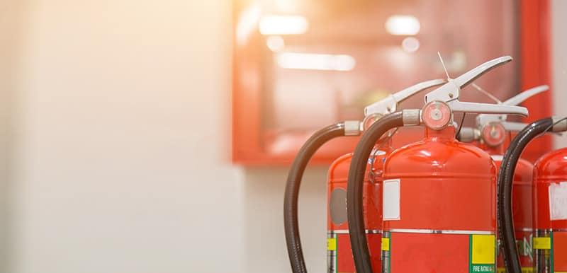 fire extinguisher in garage