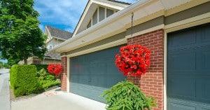 view of garage doors