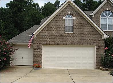 before picture of garage doors