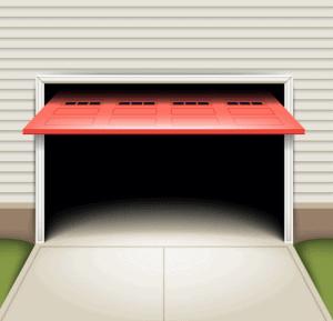 Opened Garage Door