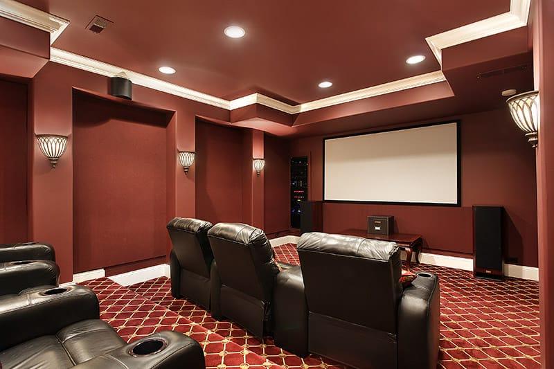 garage home theater ideas