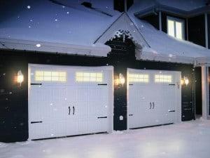 2 Garages doors in winter