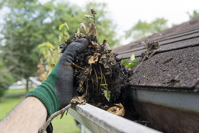 cleaning garage gutters