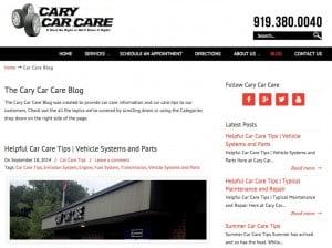 Cary Car Care Blog