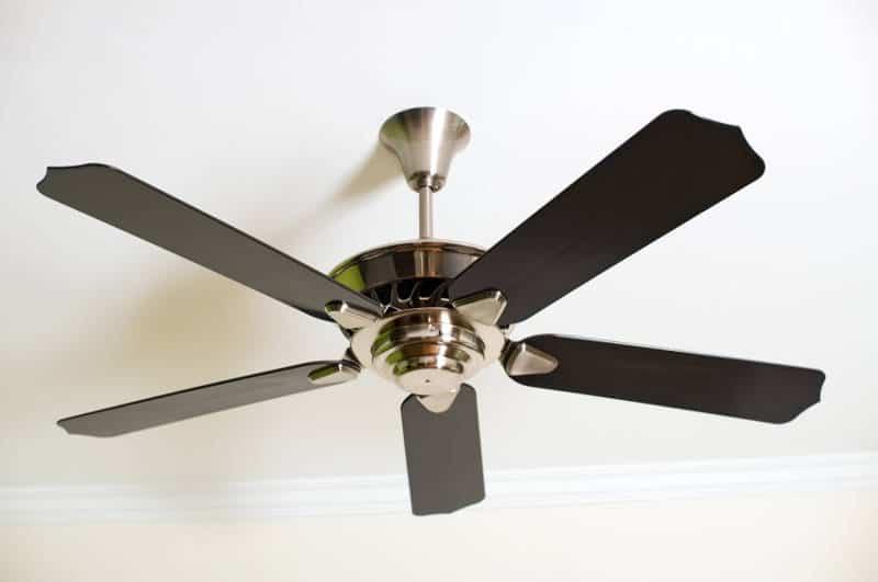 ceiling fan in a garage