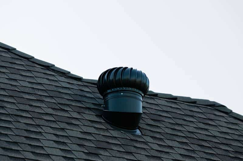 roof vent on a garage