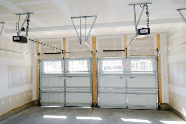 the inside of a garage