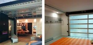 Outdoor Living Space and Garage Doors Go Together