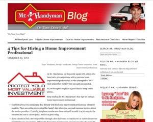 Mr. Handyman Blog