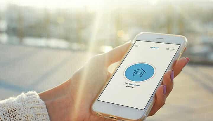 garage door opener app from smartphone