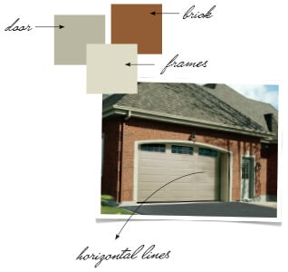 Coordinate the color of your home with your garage door