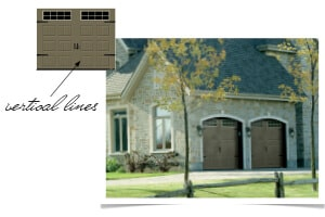 Coordinate the lines your home with your garage door