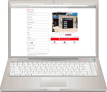 Laptop with Design Centre webpage